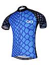 Sportif Maillot de Cyclisme Homme Manches courtes VeloRespirable / Sechage rapide / Design Anatomique / Zip frontal / Pocket Retour /