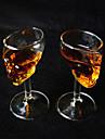 2 st slap-up kreativ skull vodka whiskey som dricker vin glas bägare flaska kopp glas rött vin glas