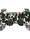 Maro și verde camuflaj Dual-Shock Bluetooth V4.0 Wireless Controller pentru PS3