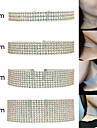 Women\'s Choker Necklaces Tattoo Choker Rhinestone Alloy Simulated Diamond Basic Design Unique Design Tattoo Style Acrylic Multi-ways Wear