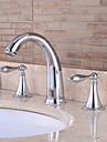 salle de bain evier robinets chromes en laiton contemporaine