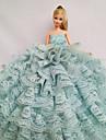 Fest/afton Klänningar För Barbie Doll Ljusgrön Spets Klänningar För Flicka doll Toy
