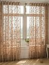Un Panou Tratamentul fereastră European , Frunză Sufragerie Amestec poli/bumbac Material Sheer Perdele Shades Pagina de decorare For