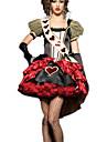 Costumes de Cosplay Casque Couronnes Costume de Soiree Bal Masque Reine Conte de Fee Cosplay de Film Rouge Robe Coiffure Halloween Noel