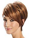 bang cote court bob perruque synthetique brun chaleur resistant cheveux perruque cosplay