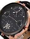 Bărbați Ceas Sport Ceas Militar Ceas Elegant Ceas La Modă Ceas de Mână Zone Triple De Timp Punk Quartz Piele BandăVintage Cool Casual