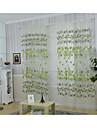 Un Panou Tratamentul fereastră Țara , Floare Sufragerie Poliester Material perdele, draperii Pagina de decorare For Fereastră