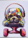 Pictat manual Abstract Animal Pătrat,Modern Clasic Un Panou Canava Hang-pictate pictură în ulei For Pagina de decorare