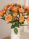 1 1 Une succursale Plastique / Autres Roses / Autres Fleur de Table Fleurs artificielles