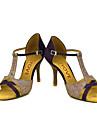 Latin / Salsa-Pantofi de dans(Negru / Albastru / Galben / Roz / Violet / Roșu) -Personalizabili-Damă