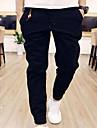 Bărbați Drept Pantaloni Chinos Pantaloni Simplu Solid Casul/Zilnic Talie Joasă Fermoar Bumbac Inelastic All Seasons