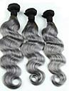 Tissages de cheveux humains Cheveux Eurasiens Ondulation naturelle 3 Mois 3 Pieces tissages de cheveux