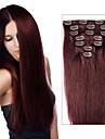 Brazilian pince a cheveux dans les extensions 70 g-120 g clip dans les extensions de cheveux droites 7/8 pcs couleurs multicouches
