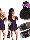 Trame cheveux avec fermeture Cheveux Malaisiens Tres Frise 6 Mois 4 Pieces tissages de cheveux