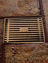 baie accesoriu finisaj alamă antic alamă masivă de scurgere podea