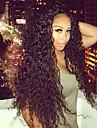 """non traite 10 """"-24"""" cheveux bresiliens vierges couleur naturelle crepus frises 130% dentelle densite perruque avant"""
