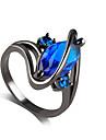 Inel Safir imitație de safir Aliaj Ștras imitație de diamant Mov Albastru Bijuterii Nuntă Petrecere 1 buc