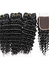 4 Pieces Ondulation profonde Tissages de cheveux humains Cheveux Indiens 100g per bundle 8inch-28inch Extensions de cheveux humains