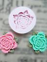 Blomma med blad Silikon Mögel Fondant Formar Sugar Craft Verktyg Harts blommor Mould formar för kakor