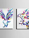 canvas Set Djur Moderna,Två paneler Kanvas Vertikal Print Art väggdekor For Hem-dekoration