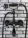 phasat® bronze traditionnelle terminer 2 poignees robinet de la baignoire avec douche a main