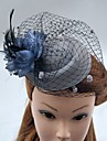 Women\'s Feather Tulle Net Headpiece-Wedding Special Occasion Fascinators Hats Birdcage Veils 1 Piece