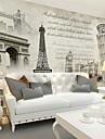 Art Deco / 3D Bakgrund För hemmet Retro Tapetsering , Kanvas Material lim behövs Mural , room Wallcovering