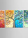 toile set Abstrait A fleurs/Botanique Moderne Classique,Quatre Panneaux Toile Verticale Imprimer Art Decoration murale For Decoration