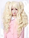 Perruques de lolita Doux Princesse Moyen Boucle Dore Perruque Lolita  55 CM Perruques de Cosplay Couleur Pleine Perruque Pour Femme