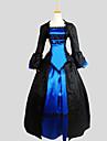 Outfits Gotisk Lolita Victoriansk Cosplay Lolita-klänning Jacquard Lång ärm Asymmetrisk Frack För Silke