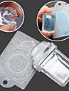 rektangulärt transparent tätnings manikyr tätning mall 2 piece skrapa