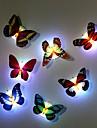 7 couleurs changeantes papillon a mene la lampe de lumiere de nuit