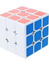 Shengshou® Cube de Vitesse  3*3*3 Nouveautes Cubes magiques Noir Blanc Bleu Rose Beige Autocollant lisse Anti-pop ressort reglable ABS