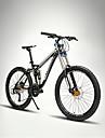 Velo tout terrain Cyclisme 27 Vitesse 26 pouces/700CC 60mm Femme SHIMANO M370 Frein a Disque Fourche de suspensionCadre Softail Cadre en