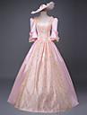 One-piece/Klänning Maskerad Klassisk/Traditionell Lolita Prinsessa Vintage-inspirerad Elegant Victoriansk Rokoko Cosplay Lolita-klänning