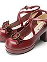 Chaussures Gothique Doux Lolita Classique/Traditionnelle Punk Wa Marin Retro Elegant Victorien Talon haut Noeud Noeud papillon 7.5 CMRouge