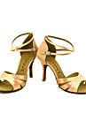 Chaussures de danse(Noir Bleu Jaune Rose Violet Rouge Blanc) -Personnalisables-Talon Personnalise-Satin-Latines Salsa