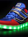 Svart Marinblå-Platt klack-Pojkar-Komfort-Mikrofiber-Fritid-Sneakers
