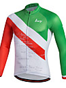 Maillot de Cyclisme Homme Manches longues VeloRespirable Sechage rapide Permeabilite a l\'humidite Zip frontal zip YKK Bandes