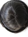 hommes Toupee cheveux humains cheveux vierges naturelle droite 6 * 8 pouces