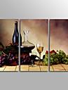 Kanvas Set Ur Canvastryck Stilleben Klassisk,Tre paneler Kanvas Horisontell Målning väggdekor For Hem-dekoration