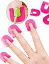 26pcs återanvändbar mjukplast nagellack stencil med 10 storlekar