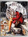 Pictat manual Abstract Oameni Vertical,Modern Un Panou Canava Hang-pictate pictură în ulei For Pagina de decorare