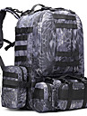 50 L ryggsäck Camping Utomhus Multifunktionell Svart Mörkblå Armégrön Kamoflage Oxford