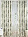 Deux Panneaux Le traitement de fenetre Europeen , Fleur Chambre a coucher Melange Lin/Coton Materiel Rideaux occultants rideauxDecoration
