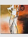 Peint a la main Abstrait Fantaisie Panoramique Horizontale,Moderne Classique Un Panneau Toile Peinture a l\'huile Hang-peint For