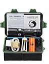 Belysning LED-Ficklampor Ficklampsuppsättningar LED 2000 Lumen 3 Läge Cree XM-L T6 18650 AAA 26650 Justerbar fokus Klämma