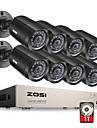 zosi® 8ch 1080n hd-TVI DVR övervakningskamera kit 8x 1280tvl 720p ir väderbeständiga kameror 1TB hdd