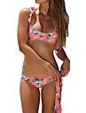 Femei Bikini Femei Cu Bretele Floral Volane Spandex