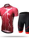 XINTOWN® Maillot et Cuissard de Cyclisme Homme Manches courtes VeloRespirable Sechage rapide Resistant aux ultraviolets Permeabilite a